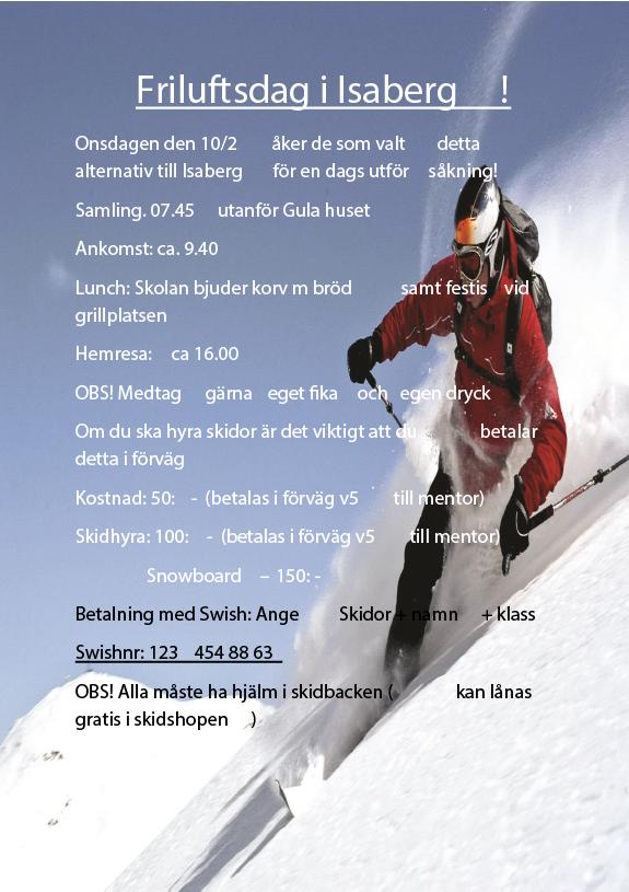 Friluftsdag 10 feb 2016 Isaberg